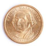 Één dollarmuntstuk met george Washington Royalty-vrije Stock Afbeelding