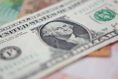 Één dollarrekening stock foto's