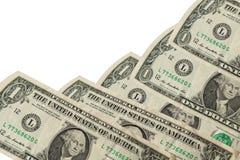 Één dollarrekening op witte achtergrond Royalty-vrije Stock Fotografie