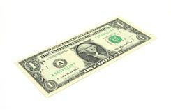 Één dollarrekening schuin stock foto's
