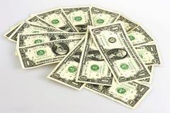 Één dollarrekeningen Stock Afbeelding