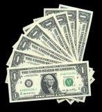 Één dollarrekeningen Royalty-vrije Stock Foto's
