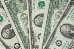Één-dollars en twee-dollars rekening Stock Afbeelding
