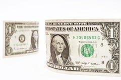 Één dollarsrekening Stock Foto