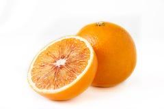 Één en halve sinaasappelen Royalty-vrije Stock Fotografie