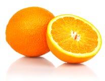 Één en halve sinaasappelen Royalty-vrije Stock Foto