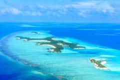 Één en slechts het Eilandtoevlucht van Reethi Rah de Maldiven Stock Afbeelding