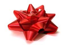 Één enkele rode Kerstmisboog Stock Afbeeldingen