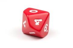 Één enkele rood tien-opgeruimde matrijs stock afbeelding