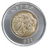 Één Ethiopisch birr Stock Foto's