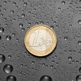 Één EURO Royalty-vrije Stock Afbeeldingen