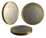 Één EURO Stock Afbeeldingen