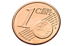 Één euro cent dichte omhooggaand Royalty-vrije Stock Fotografie