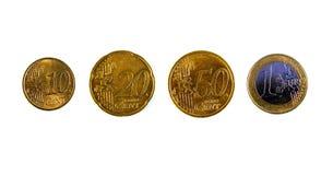 Één euro en tachtig centen Stock Foto