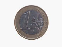 Één euro EUR-muntstuk Royalty-vrije Stock Foto's