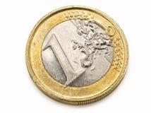 Één euro muntstuk Stock Foto's