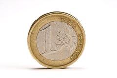 Één euro muntstuk Stock Afbeelding