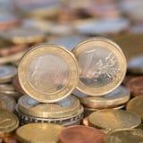 Één Euro muntstuk België Royalty-vrije Stock Foto