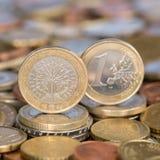 Één Euro muntstuk Frankrijk Royalty-vrije Stock Afbeeldingen