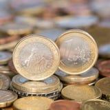 Één Euro muntstuk Slovenië Stock Foto's