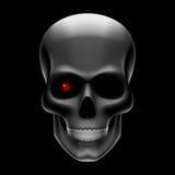 Één eyed schedel op zwarte Royalty-vrije Stock Foto