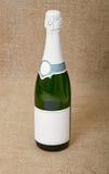 Één fles mousserende wijn Stock Foto