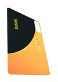 Één geïsoleerdeg bankkaart, besparingenrijkdom Stock Foto