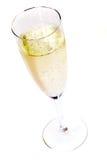 Één glas champagne Stock Foto's