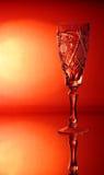 Één glas van de kristalwijnstok Royalty-vrije Stock Afbeeldingen