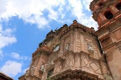 Één Gotische Kerk in México royalty-vrije stock foto