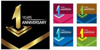 ??n gouden jaarverjaardag het ontwerp van het verjaardagsmalplaatje voor Web, spel, Creatieve affiche, boekje, pamflet, vlieger,  vector illustratie