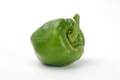 Één groene paprika royalty-vrije stock foto's