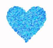 Één groot hart van vele kleine harten stock illustratie