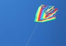 Één grote gekleurde vlieger Stock Fotografie