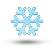 Één grote sneeuwvlok Stock Foto's