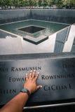 Één herdenkingshand van het wereldhandelscentrum Stock Afbeelding