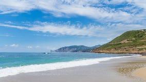 Één het strand Royalty-vrije Stock Foto