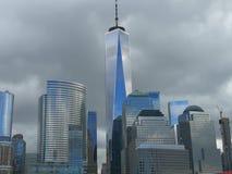 Één horizon van het wereldhandelscentrum stock fotografie
