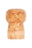 Één houten die cork op wit wordt geïsoleerd Stock Foto's