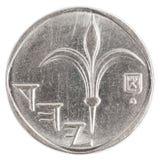 Één Israëlisch Nieuw Sheqel-muntstuk Royalty-vrije Stock Foto's