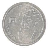 één Israëlisch Nieuw Sheqel-muntstuk - Rambam-uitgave Stock Afbeeldingen