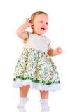 Één jaar oud babymeisje Stock Afbeeldingen