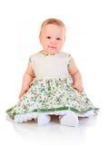 Één jaar oud babymeisje Stock Afbeelding