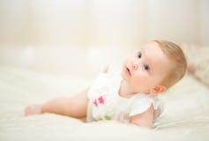 Één jaar oud babymeisje Royalty-vrije Stock Afbeeldingen