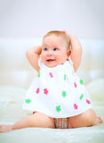 Één jaar oud babymeisje Royalty-vrije Stock Foto