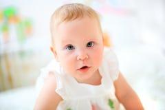 Één jaar oud babymeisje Royalty-vrije Stock Foto's