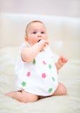 Één jaar oud babymeisje Royalty-vrije Stock Fotografie