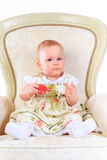 Één jaar oud babymeisje Stock Fotografie
