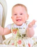 Één jaar oud babymeisje Royalty-vrije Stock Afbeelding