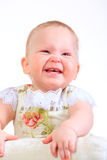 Één jaar oud babymeisje Stock Foto's
